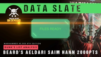 Warhammer 40,000 Data Slate: Dunk's List Analysis – Beard's Saim Hann 2000pts