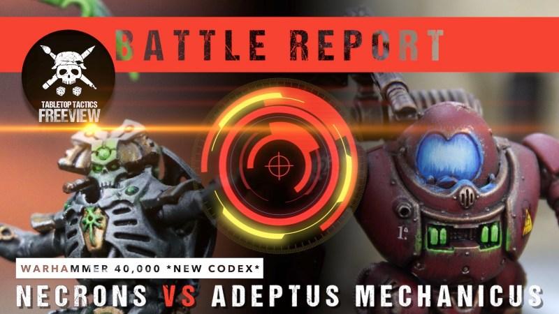 Warhammer 40,000 8th Ed *NEW CODEX* Battle Report: Necrons vs Adeptus Mechanicus 2000pts