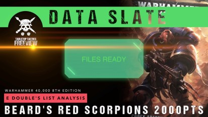Warhammer 40,000 Data Slate: E Double's List Analysis – Beard's Red Scorpions 2000pts