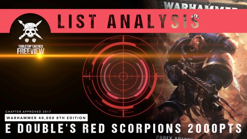 Warhammer 40,000 8th Edition List Analysis: E Double's Red Scorpions 2000pts