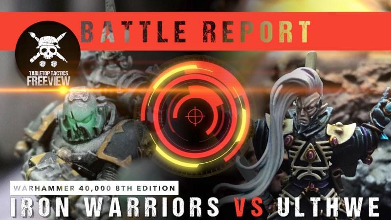 Warhammer 40,000 8th Edition Battle Report: Iron Warriors vs Ulthwe 2000pts