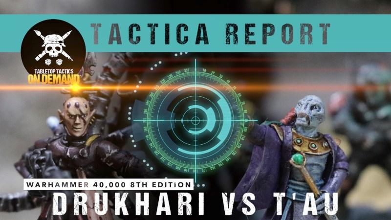 Warhammer 40,000 8th Edition Tactica Report: Drukhari vs T'au 2000pts