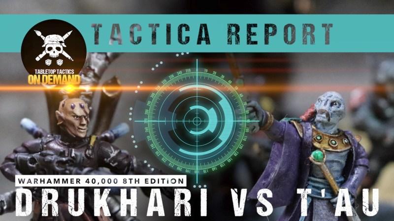 Warhammer 40,000 Tactica Report: Drukhari vs T'au 1750pts