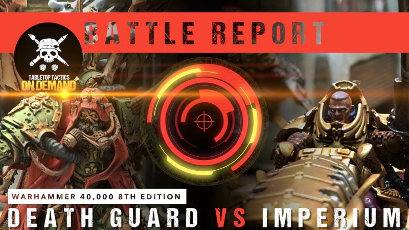 Warhammer 40,000 Battle Report: Death Guard vs Imperium 2000pts