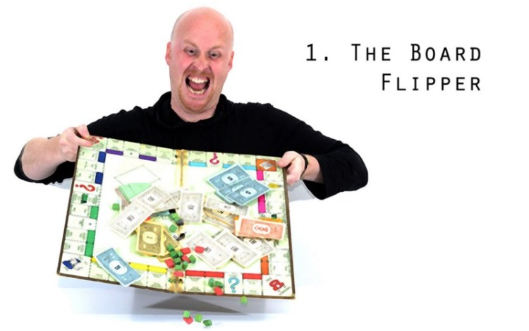 Worst Types Of Tabletop Gamer - Board Flipper