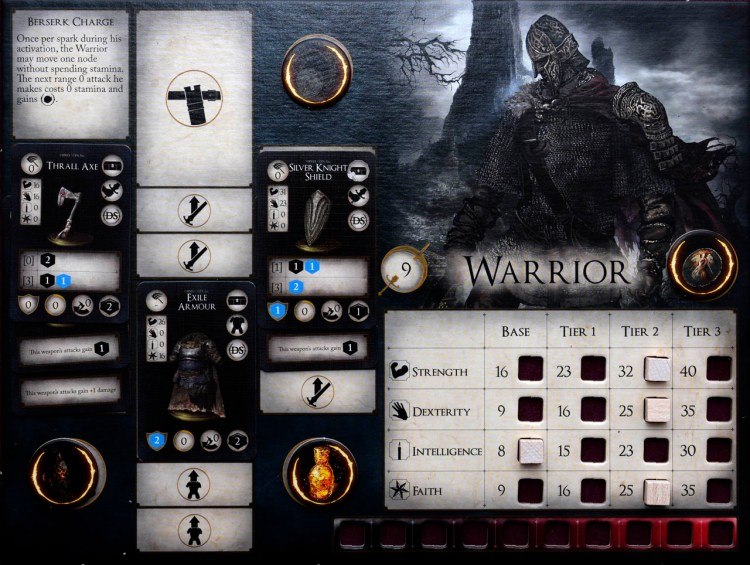 Dark Souls The Board Game - Warrior Player Board