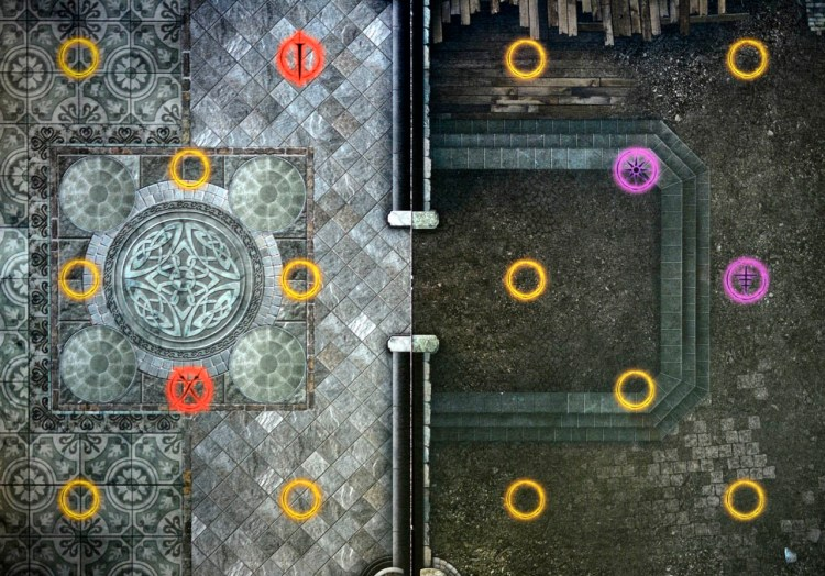 Dark Souls The Board Game - Tiles and Nodes