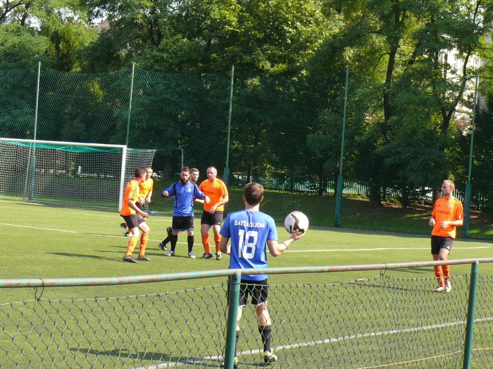 Krakow Dragoons FC playing