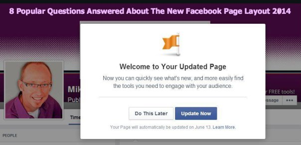 Keri Jaehnig of Idea Girl Media showcases 8 Popular Questions Answered About The New Facebook Page Layout 2014 for TabSite