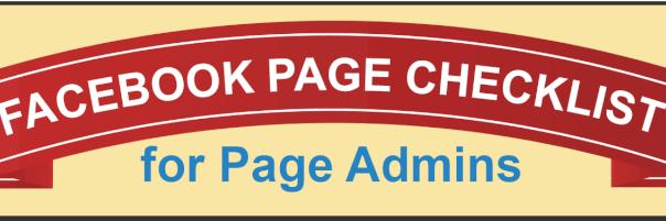 Facebook Page Checklist for Facebook Admins header