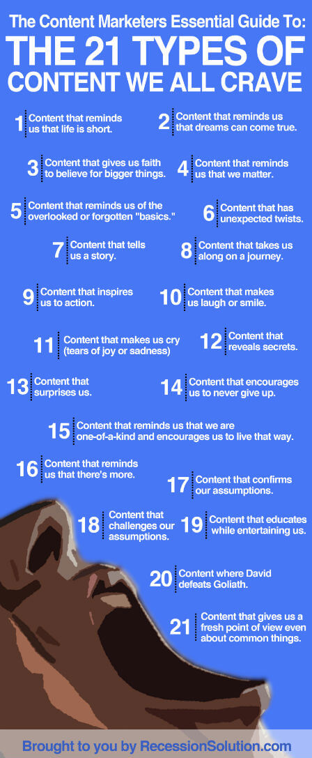 Use the content we all crave to get more web traffic