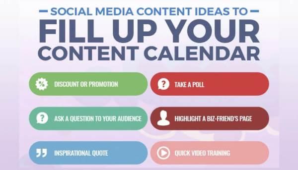 Social Media Content Calendar Infographic