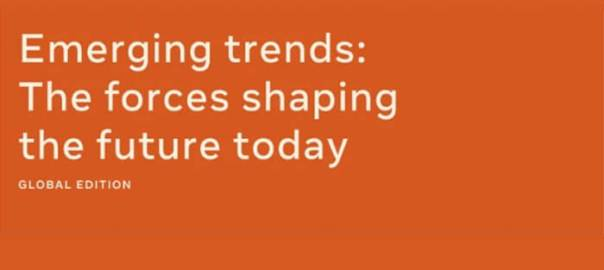 Orange and white Emerging-trends-infographic header.