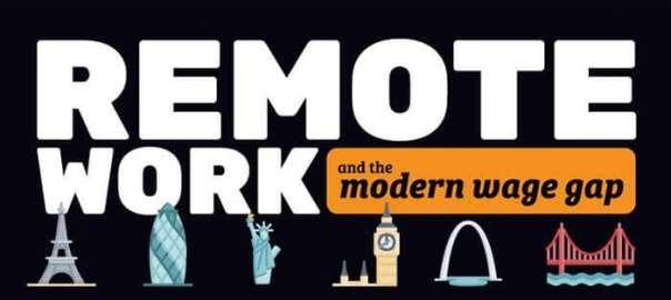 Remote Work and the Wage Gap-infographic