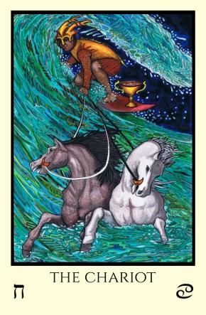 Chariot Tabula Mundi Tarot color version
