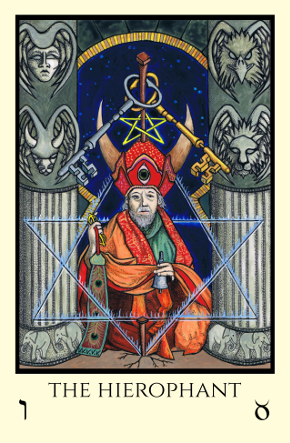 Hierophant Tabula Mundi Tarot color version