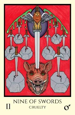 Image result for 9 of swords tarot tabula mundi