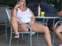 NudeChrissy - Two Hot Ladies Champagne At The Pool