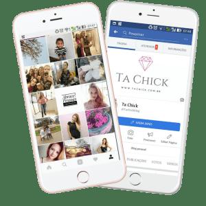 instagram e facebook blog ta chick