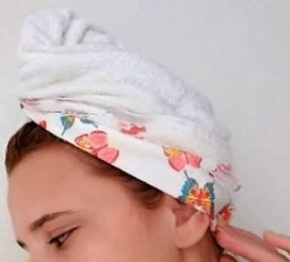Toalha produtos para cabelo