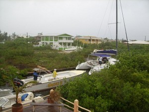 Seaduced Catamaran and Suya Boat seeking shelter from san pedro belize weather