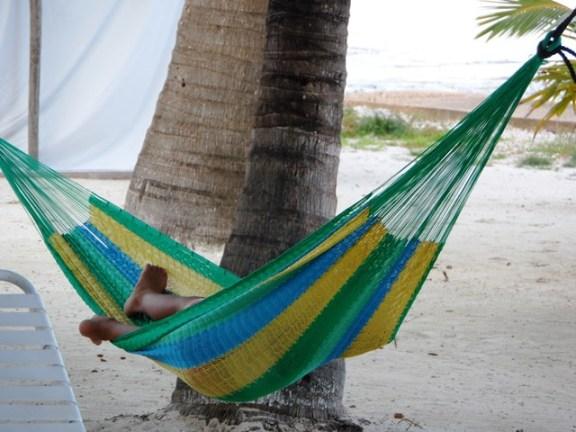 belize beach hammock