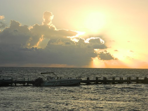 san pedro belize sunrise