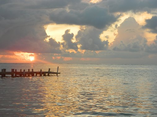 sunrise on the beach san pedro belize