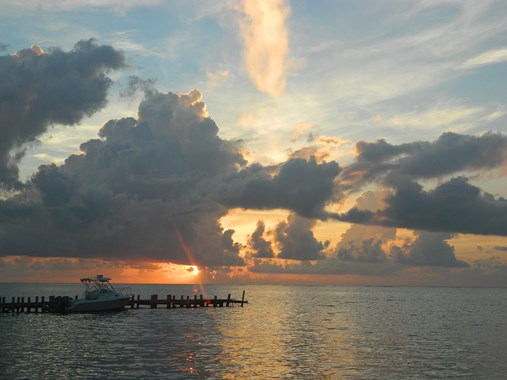 sunrise ambergris caye belize sunrise
