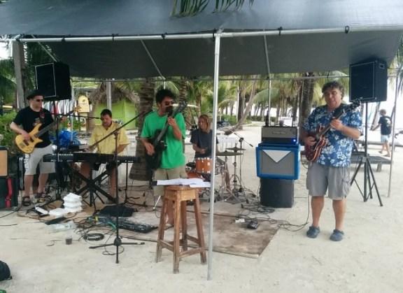 nternational jam at catamaran beach bar