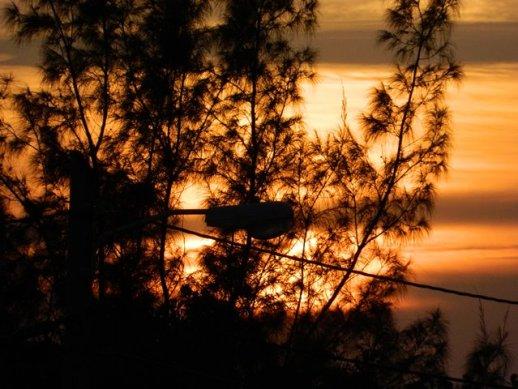 sunset picture san pablo belize