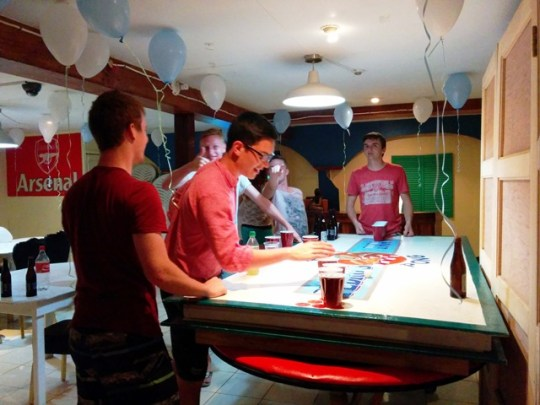 beer pong in belize