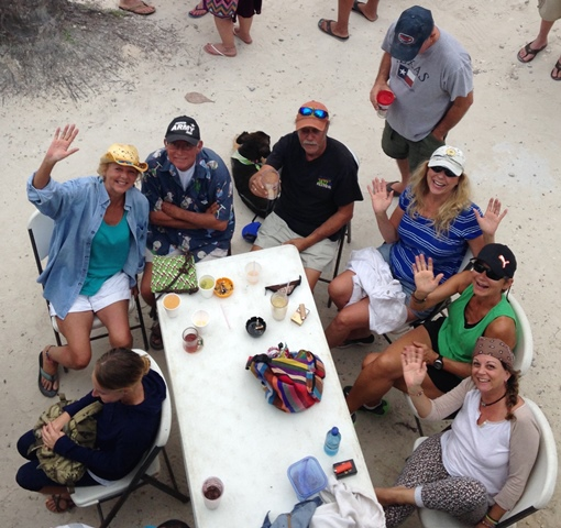 abc's beach bar picking party for camp belize 2015