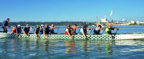 Photo of dragon boat practice