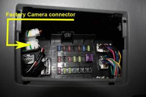 OEM Backup Camera connected to after market radio