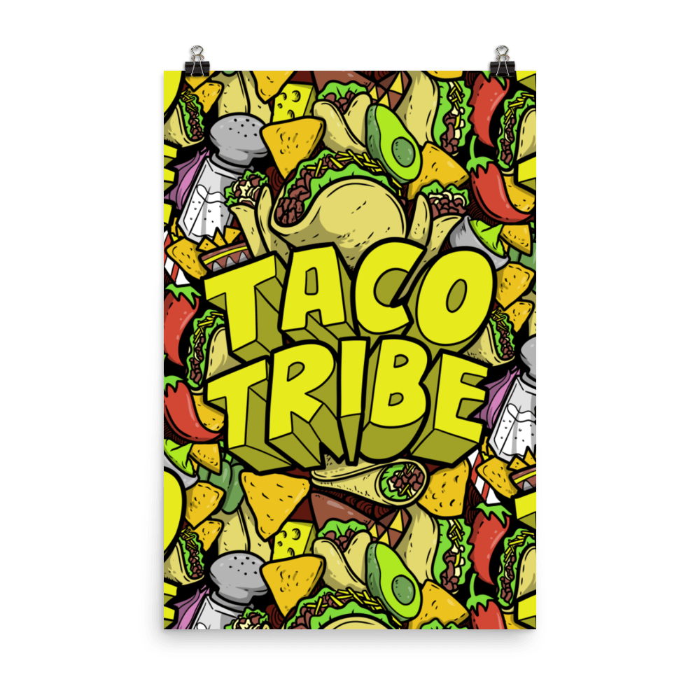 Taco Platter Poster at a Reasonable Price- TacoTribe