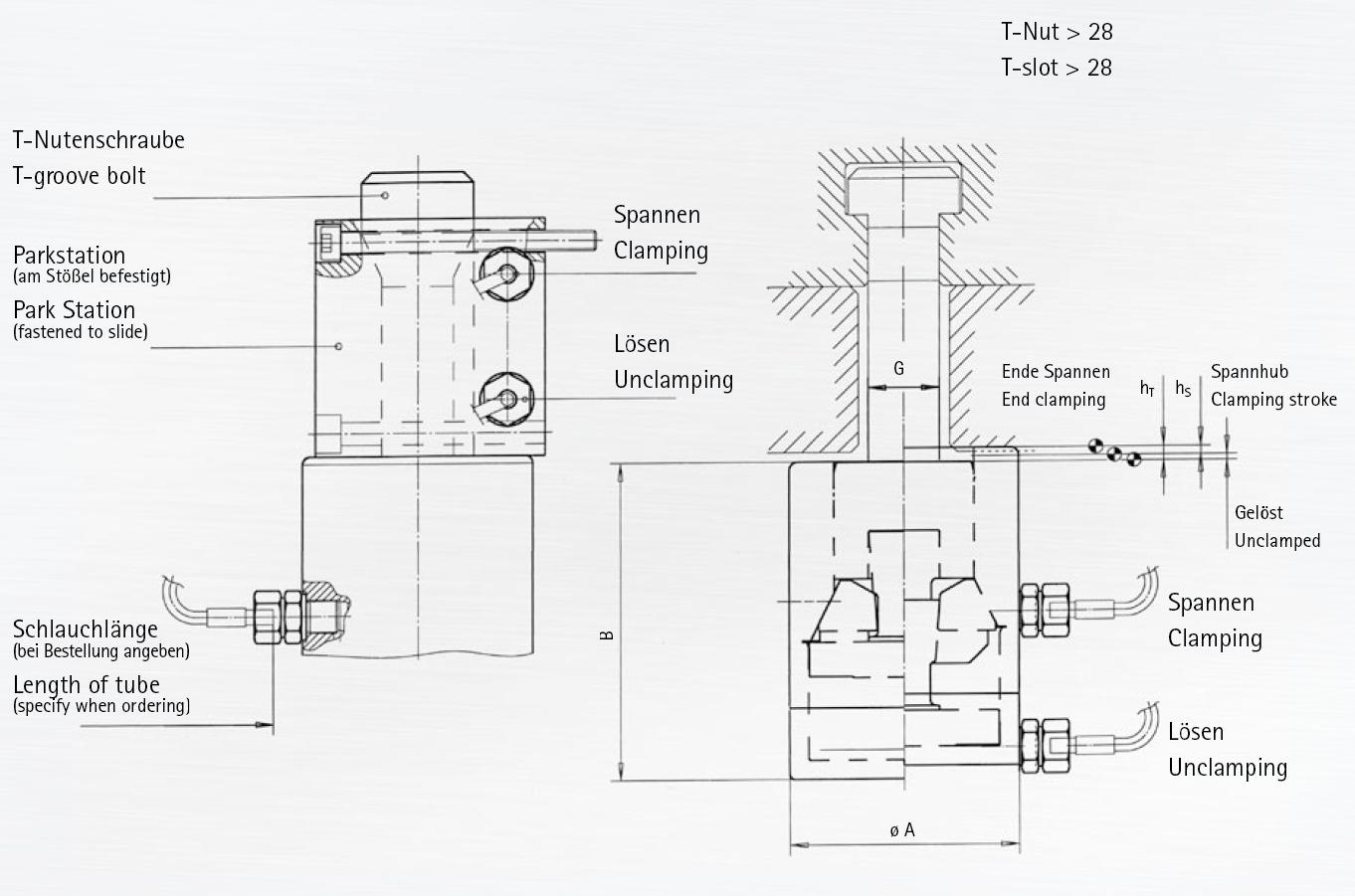 Berg Manual Hydro Mechanical Self Locking Drawbar Style