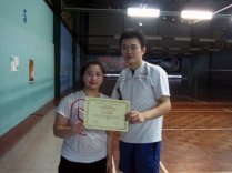 Coach Andrew with Cindy from Canada