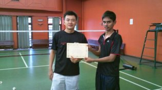 Coach Andrew with player from India