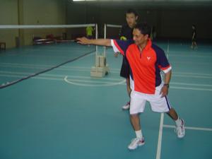 Coach Andrew with Fernando from Sri Lanka