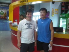 Coach Andrew with Legendary and Olympic Silver-medalist Cheah Soon Kit