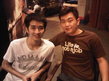 Coach Andrew and Chong Wei Feng(MAS) Sea Games 2015 Champion