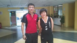 Coach Andrew with Malaysia national champion Tee Jing Yi