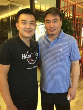 Coach Andrew with World Champion and Living Legend Zhao Jian Hua