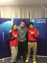 Coach Andrew Chang with U19 Provincial Mixed Doubles Champion