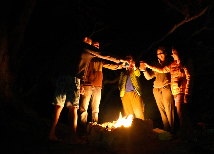 Outdoor Campfire with your Family