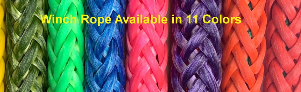 Synthetic Winch Rope 11 Colors