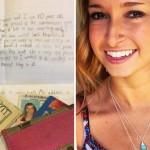 Niño devuelve a una chica una billetera extraviada con una de las cartas más dulces del mundo