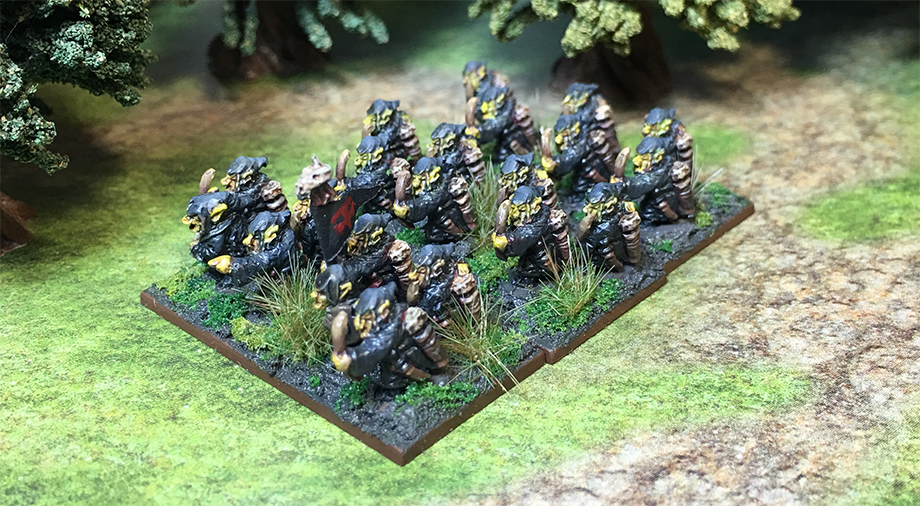 A unit of Night Goblins for Warmaster