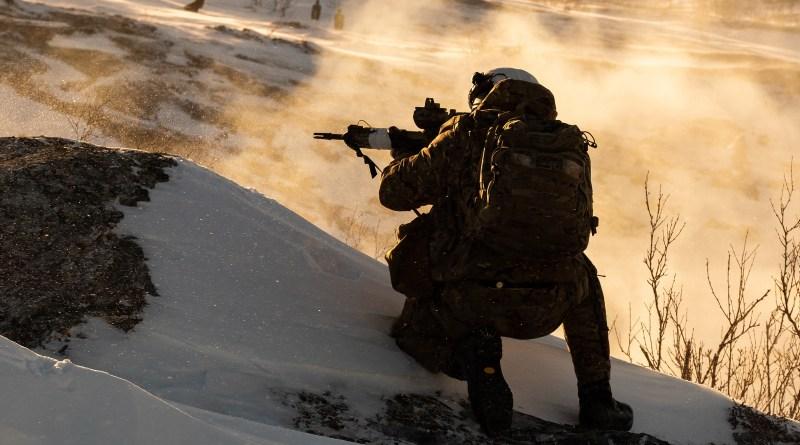 Royal Marines in Arctic training
